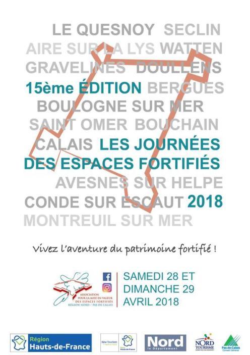 Visuel des Journées des sites fortifiés 2018©Association des sites fortifiés DR