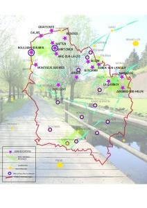 carte géographique du réseau fortifié régional